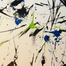 Sans titre, Peinture à l'huile sur toile, 50x150cm, 2008, Paris.